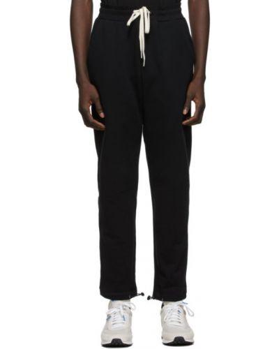 Frotte czarny spodnie z mankietami z kieszeniami John Elliott