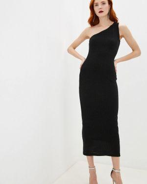 Вечернее платье осеннее черное Lime