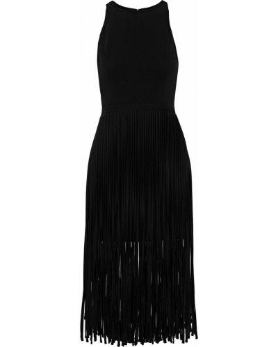 Черное платье с подкладкой Halston Heritage