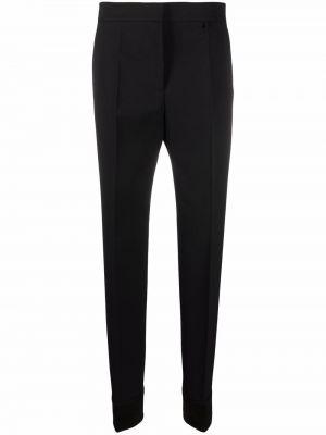 Spodnie z wysokim stanem - czarne Givenchy