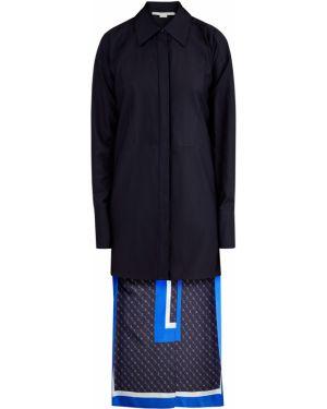 Блузка с длинным рукавом классическая шелковая Stella Mccartney