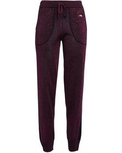 Вязаные брюки в полоску с вышивкой Bella Freud