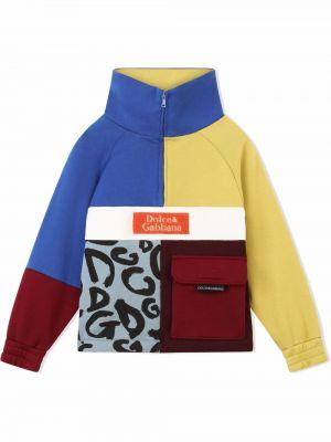 Niebieska bluza z printem Dolce & Gabbana Kids