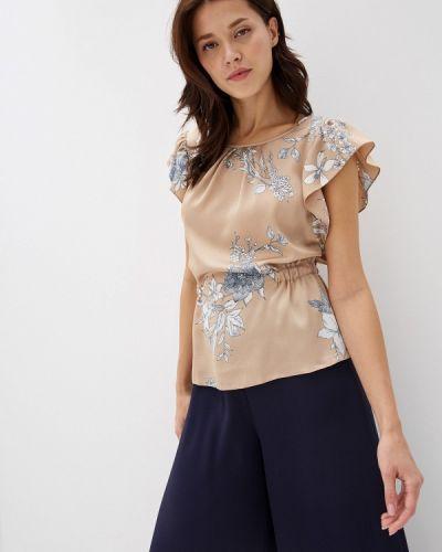 Блузка с коротким рукавом весенний бежевый Yuna Style