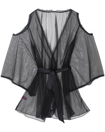 Кружевной халат - черный L'agent By Agent Provocateur