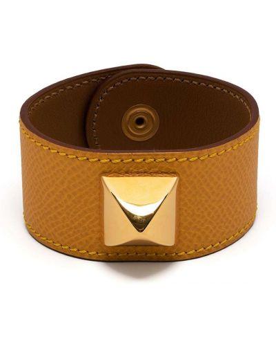 Brązowa bransoletka pozłacana Hermes