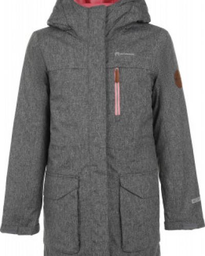 Серая теплая приталенная куртка на молнии Outventure