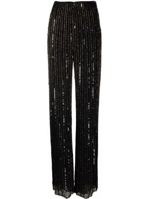 Czarne spodnie z wiskozy Jenny Packham