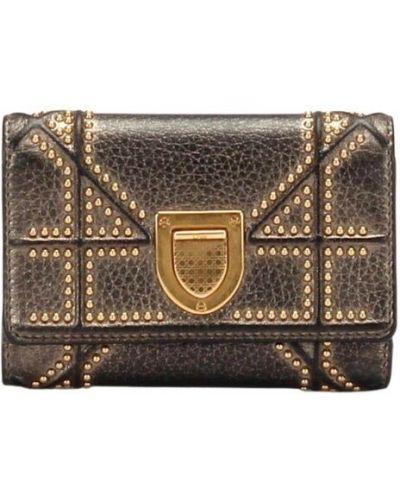 Czarny portfel skórzany Dior Vintage