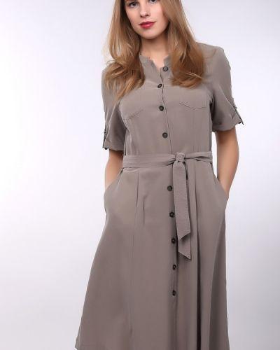 Бежевое платье из полиэстера Gerry Weber
