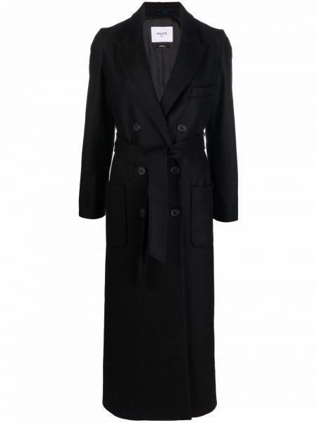 Черное шерстяное пальто PaltÒ
