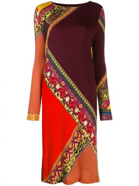 Платье макси винтажная с цветочным принтом Etro