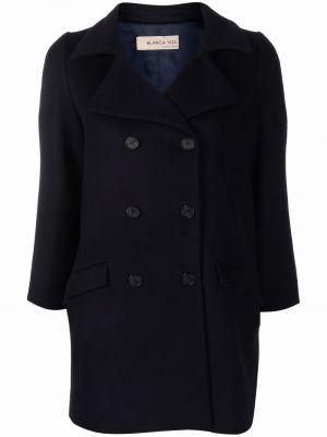 Niebieski klasyczny płaszcz Blanca Vita