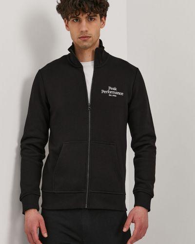 Czarna bluza z kapturem bawełniana Peak Performance