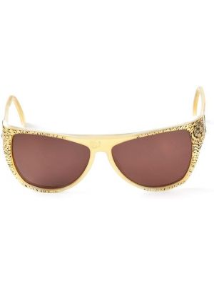 Муслиновые желтые солнцезащитные очки Krizia Pre-owned