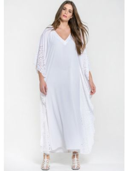 Расклешенное платье мини с V-образным вырезом на молнии с короткими рукавами Mat Fashion