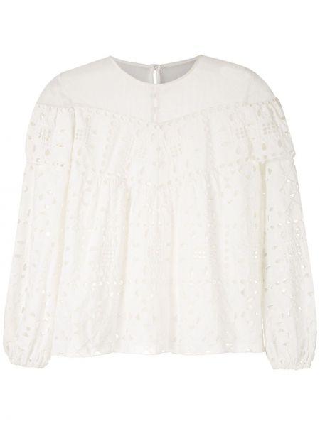 Блузка с манжетами прозрачная НК