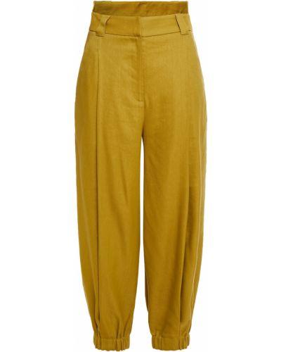 Spodnie z paskiem z wiskozy Tibi
