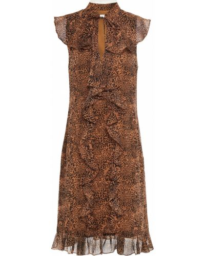 Шифоновое платье с подкладкой на крючках Mikael Aghal