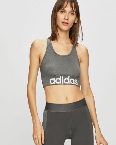 Спортивный костюм с принтом серый Adidas