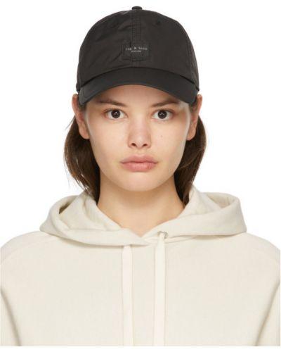 С ремешком черная кепка с вышивкой Rag & Bone
