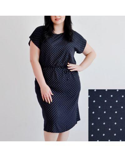 Платье в горошек - синее Van Gils