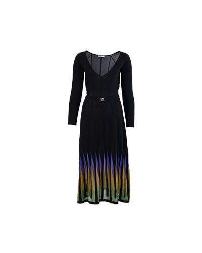 Вечернее платье миди черное Versace Collection