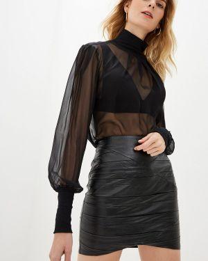 Блузка с длинным рукавом черная Intimissimi