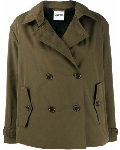 Длинная куртка милитари зеленая Aspesi