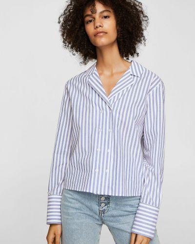 Блузка прямая в полоску Mango