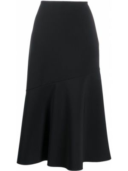 Черная юбка годе Jil Sander Pre-owned