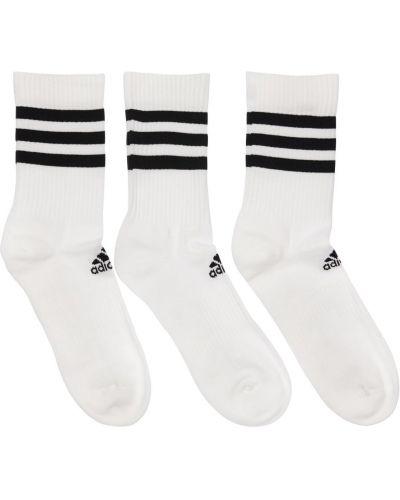 Ватные хлопковые белые носки Adidas Performance