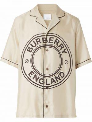 Koszula z jedwabiu - czarna Burberry