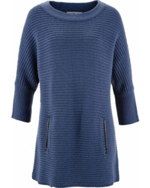 Темно-синий свитер с рукавом 3/4 Bonprix
