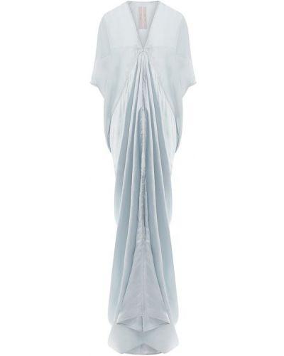 Платье макси с V-образным вырезом из вискозы Rick Owens