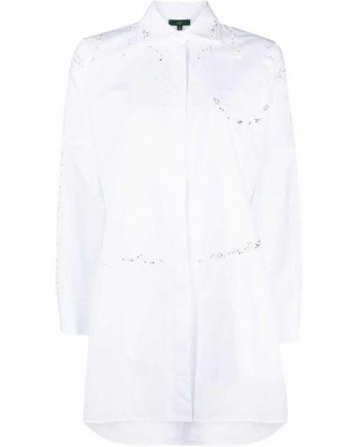 Хлопковая белая рубашка с длинными рукавами Jejia