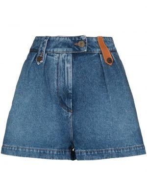 Синие джинсовые шорты с завышенной талией Loewe