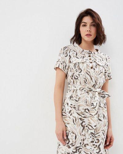 Повседневное платье весеннее бежевое Marks & Spencer