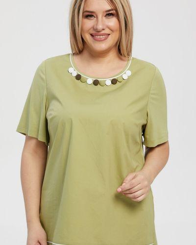 Повседневная блузка с короткими рукавами с вырезом Luxury