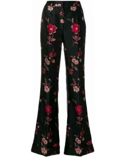Брюки расклешенные в цветочный принт Dolce & Gabbana
