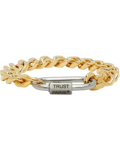 Biała złota bransoletka łańcuch In Gold We Trust Paris