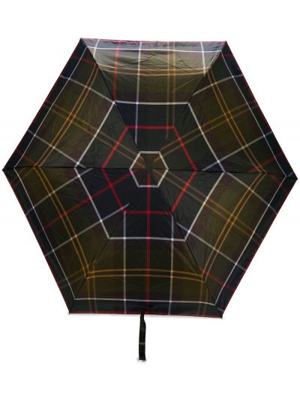 Zielony wodoodporny parasol Barbour