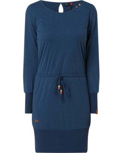 Niebieska sukienka prążkowana bawełniana Ragwear