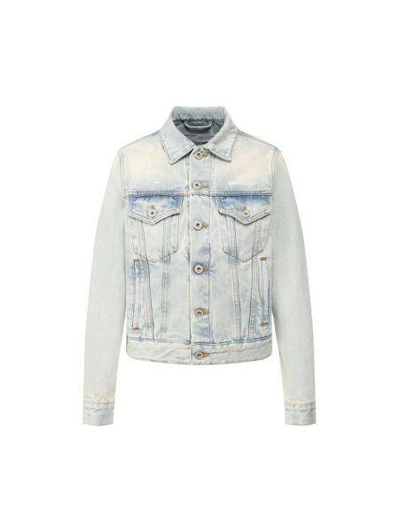 Хлопковая синяя джинсовая куртка Off-white