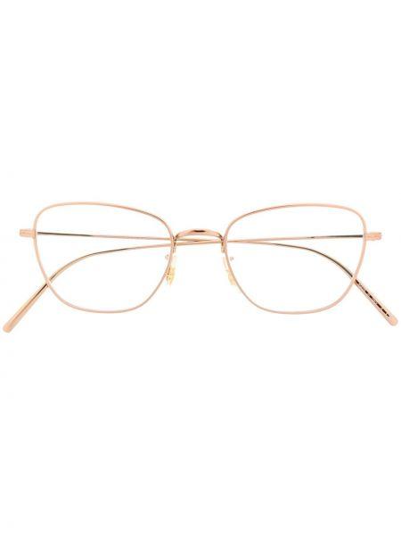 Zielona złota oprawka do okularów Oliver Peoples