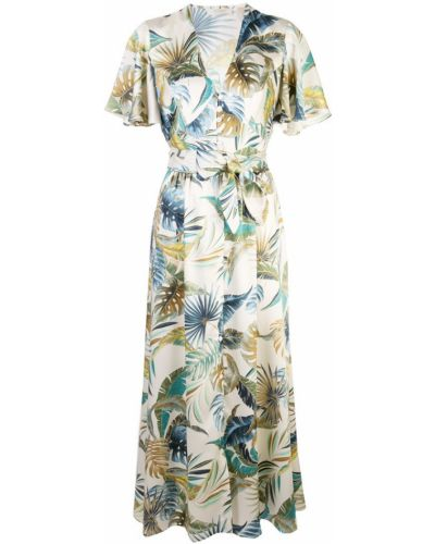 Приталенное платье миди - бежевое Petersyn
