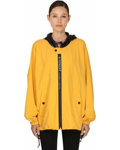 Желтая ветровка с капюшоном с воротником Givenchy