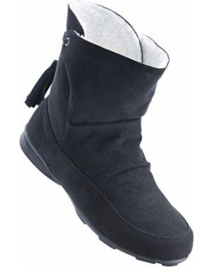 Теплые ботинки - черные Bonprix