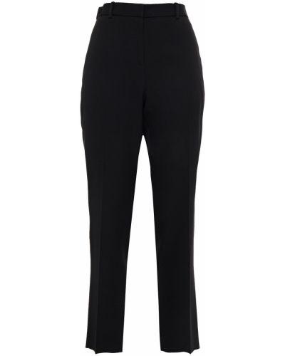 Czarne spodnie wełniane z paskiem Givenchy