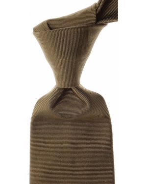 Zielony krawat z jedwabiu Moschino